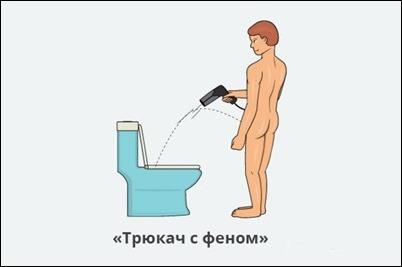 Как сходить в туалет с утренней эрекцией