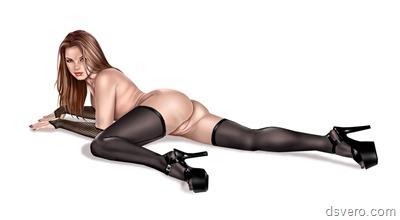 Эротика в картинках: голые рисунки