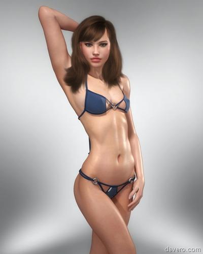 Голые в 3D: компьютерные девушки