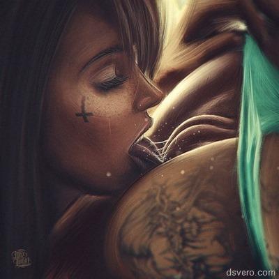 Хардкорная рисованная эротика