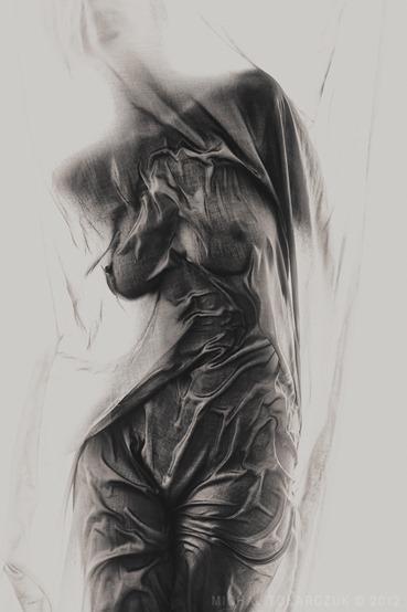 Жуткие, мрачные эротические рисунки