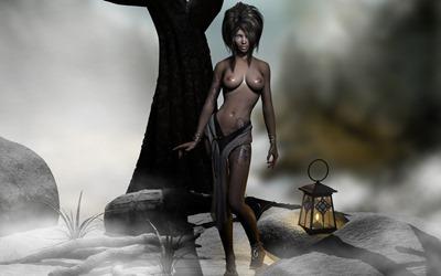 Нарисованные и голые девушки