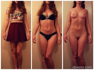 Одетые и раздетые девушки