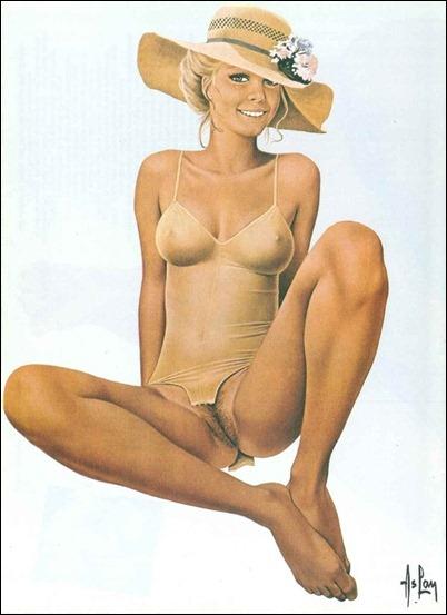 Нарисованная голая девушка