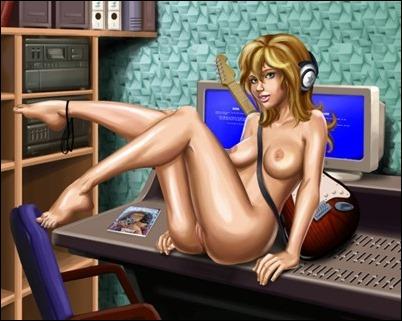 Нарисованная эротика, голые рисунки