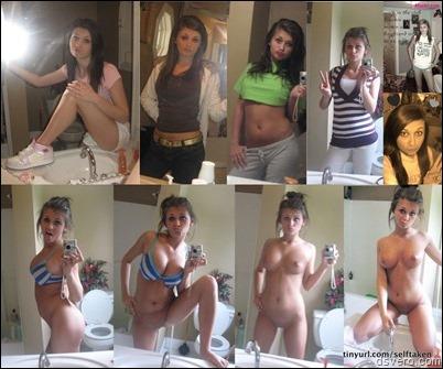 Голые девушки перед зеркалом