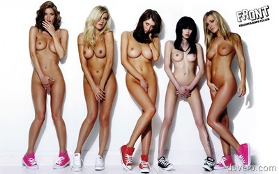 Групповые снимки голых девушек