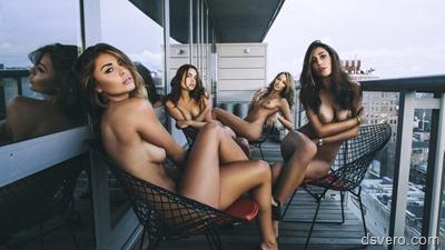 Девушки в сборе: Групповые голые фото