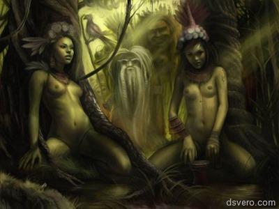 Рисованные голые девушки