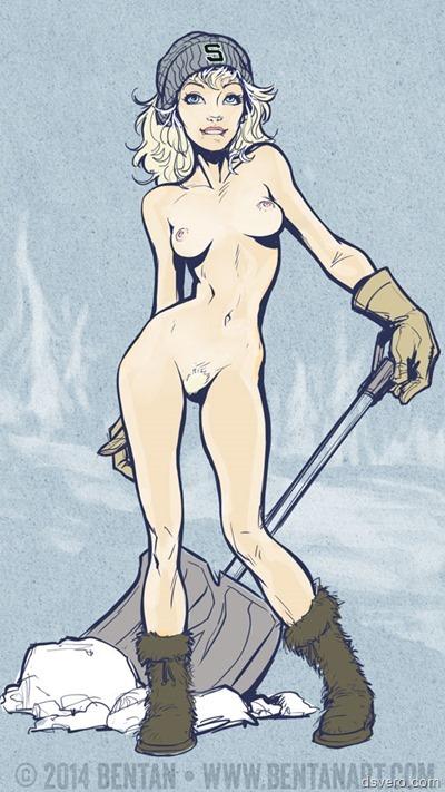 Нарисованные голые девушки