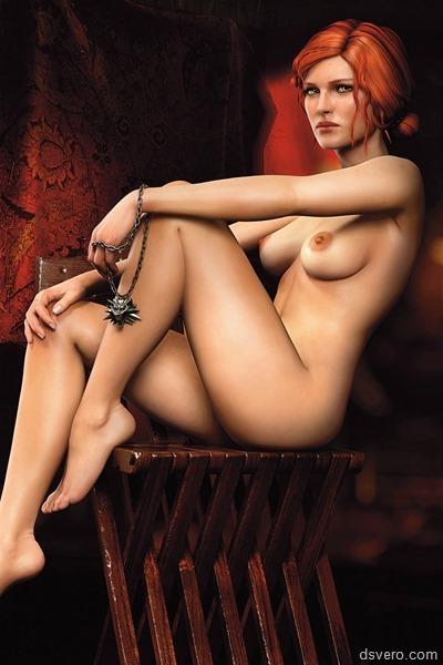 Голая Трисс Меригольд из Ведьмака