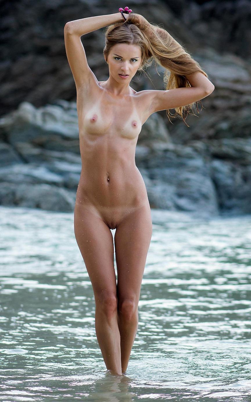 Cute slim girl naked