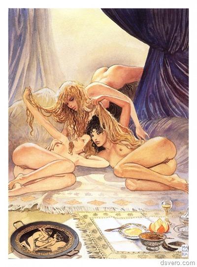 Эротические нарисованные картинки