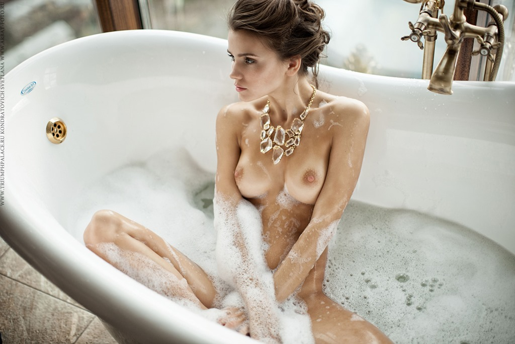 Naked girls in the bath