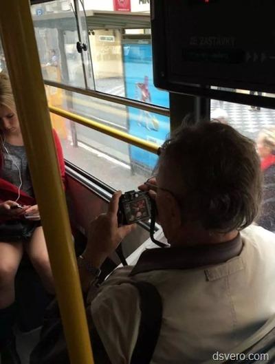 Дед в общественном транспорте