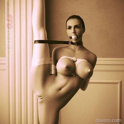 Странная голая балерина